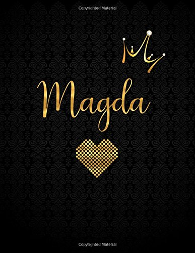 Dle Store Magda: Personalized Black XL Journal with Gold Lettering, Girl Names/Initials 8.5×11, Journal Notebook with 110 Inspirational Quotes, Journals to Write In for Women (Notebooks and Journals)
