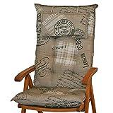 Sun Garden Hochlehnerauflagen mit Kopfpolster Dessin Sylt 40260-620 Maße ca.120x50x9 cm (Nur Auflagen ohne Stuhl)