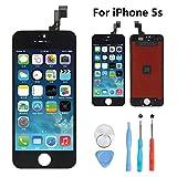 Rarlon Écran Tactile Screen de LCD Remplacement pour iPhone 5S (Noir) Tactile...