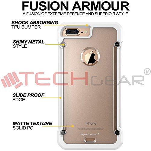 TECHGEAR® Apple iPhone 7Plus Case Blanc/Givré (FUSION ARMOUR)