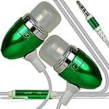 I-Sonite (Grã¼n) QualitäTS-Kopfhörer/Kopfhörer 3,5 mm Klinke mit Mikrofon und Ein/aus-Knopf für Antwort HTC U11 Plus
