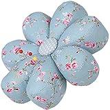 neoviva completamente acolchado con revestimiento de tela con forma de margarita pétalos de Pin Cojín con 7, tela, Floral Blue Ocean, 13(L)x13(W)x3(H) CM