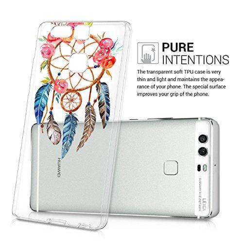 Qissy®Huawei P9 Cover Custodia, Huawei P9 Cover Morbido TPU Case Cristallo Trasparente Gel Silicone Ultra Slim Custodia Protezione Posteriore Cover Antiurto per Huawei P9 10