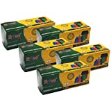 Ezee Bio-degradable Small Garbage Bags/Trash Bags/Dustbin Bags (17 X 19 Inches) Pack of 5 (150 Pieces) 30 Pcs Each Pack