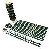 TOP MULTI Maschendrahtzaun Set Gartenzaun PVC-beschichtet grün - versandkostenfrei (D) (80cm Höhe x 15m Länge)
