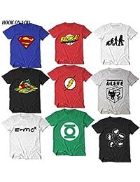 dc61242267e1 INCLUDS The Big Bang Theory T Shirt Sheldon Cooper Super Hero Green Lantern  The Flash Cosplay t Shirts Men Women…