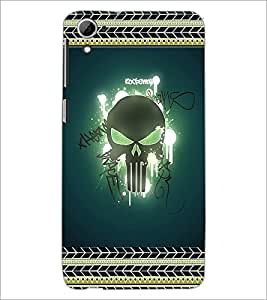 PrintDhaba Skull D-2521 Back Case Cover for HTC DESIRE 826 (Multi-Coloured)