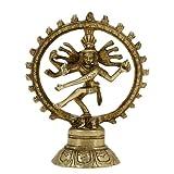 Nataraja danza ottone figurina Dio indù Shiva cm 14