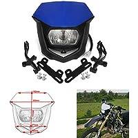 Faros delanteros universales para motocicleta color azul día de la máscara luz de giro luces intermitentes