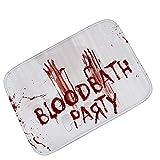 SHANGXIAN Halloween Blut Fußmatte Teppiche Petrochemie-Schädel Indoor/Outdoor Willkommen Teppich Für Zuhause/Schlafzimmer,B,60 * 90Cm
