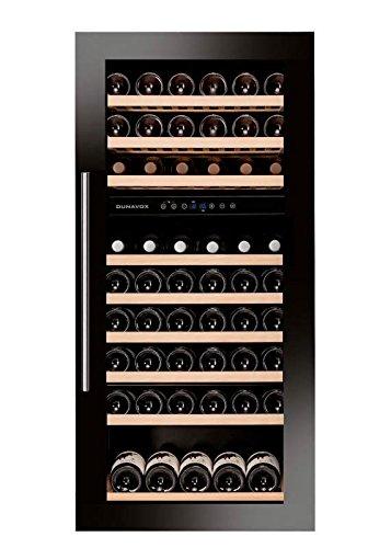 Dunavox - 'DAB-89.215DB', Weintemperierschrank für 89 Flaschen, 2 Zonen, 5 - 22°C, Einaugerät