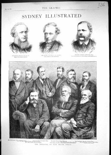 Una Stampa Antica del Panettiere 1880 di Allen Stephen Jennings Samuel di Ministero dell'Australia...