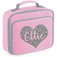 Personalised Name Heart Lunch Bag School Bags Boys Personalised Girls Back to School Lunch Box