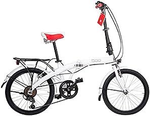 """Fiat 500 Erwachsene Pop Sport 20"""" Faltrad mit Shimano Gangschaltung White Klapp Fahrrad, weiß"""