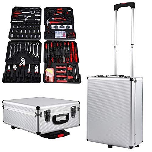 Cocoarm Trolley Werkzeugkasten 399 teilig Werkzeugwagen Werkzeugkoffer Werkzeugkasten Werkzeugkiste Werkzeugbox Rollen Toolbox mit Qualitätswerkzeug Set