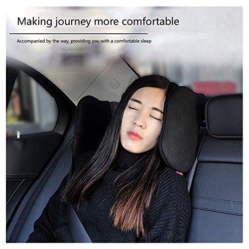 Prom-near Auto Hals Kissen Nackenstütze Nackenkissen für Autositz Kopfstütze hohe elastische Autositz Kopfstütze Nackenkissen (Black)