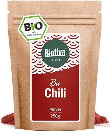 Chili BIO gemahlen - Cayennepfeffer 250g - fein gemahlenes Pulver (Cayenne, Capsicum cayennense) - feurig scharfes Chilipulver I abgefüllt Deutschland