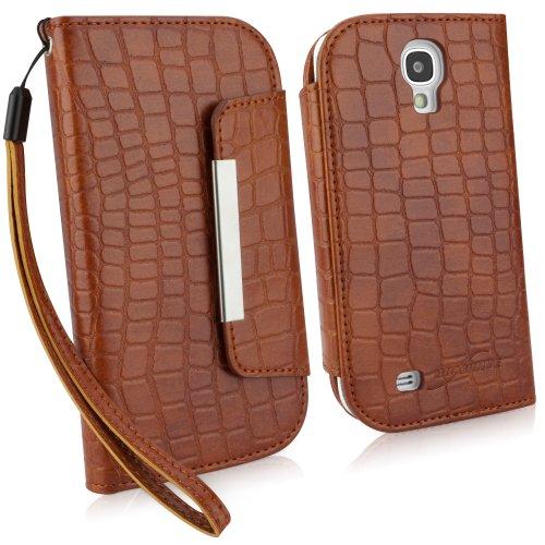 BoxWave Krokodil Leder Tasche Galaxy S4(braun) -