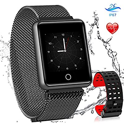 AGPTEK Bluetooth Smartwatch Waterproof IP67, Colour Screen Fitness Sport Watch Fitness Activity Tracker Smart Wrist Bracelet with Heart Rate Monitor Pedometer Sleep Monitor for Android iOS iPone from AGPTEK