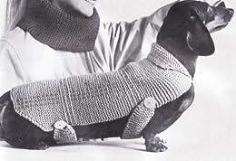 Very Easy Knit Stitch Dachshund Dog Blanket Sweater Coat ...