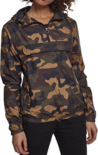 Urban Classics Damen Jacke Ladies Camo Pullover, Mehrfarbig (Woodcamo 00841), X-Large (Herstellergröße: XL)