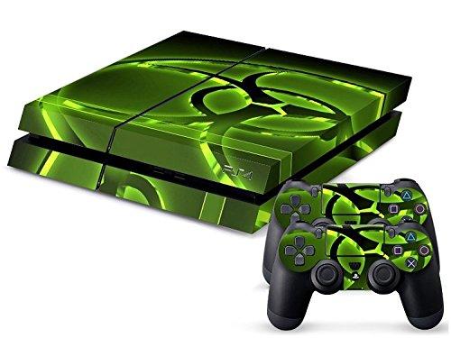 PlayStation 4 - Kit de skins (fundas adhesivas) para consola + 2 mandos de control – Hazard Modern