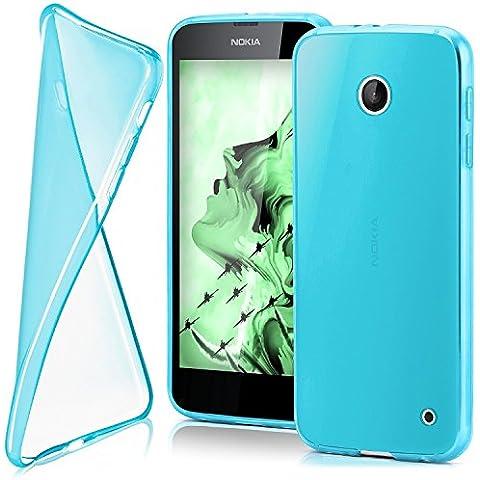 Funda protectora OneFlow para funda Nokia Lumia 630 / 635 Carcasa silicona TPU 0,7 mm | Accesorios cubierta protección móvil | Funda móvil paragolpes bolso traslúcida transparente en