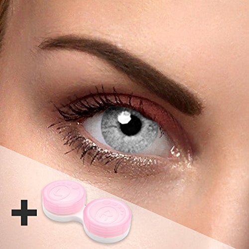 Farbige Kontaktlinsen grey One graue Kontaktlinsen farbig ohne Stärke mit Kontaktlinsenbehälter