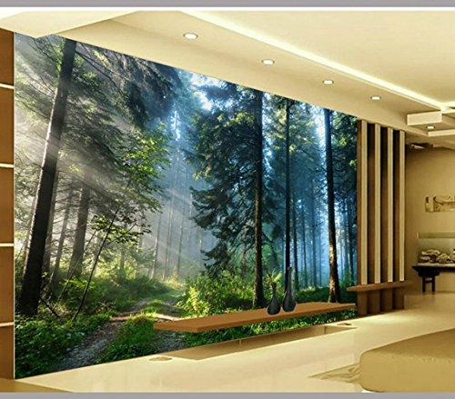 Benutzerdefinierte 3D Cedar Forest Landschaft Hintergrundbild 3D Tv Hintergrundbild abstrakte Kunst Wandbild Home Decor für Wohnzimmer