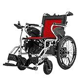 Cmn Carrozzina/Outdoor Scooter Anziano Motion Healthcare Lite Trekker Powerchairs - Sedia a rotelle elettrica motorizzata per adulti Due motori ad alta velocità, Reda, controllo singolo,Reda,Doppio
