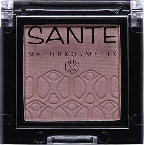 SANTE Naturkosmetik Mono Shade Lidschatten, 04 Brownish Taupe, Braun, Eyeshadow, Matte Farbnuance,...