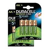 Duracell Recharge Ultra Piles Rechargeables type AA 2500 mAh, Lot de 8 piles