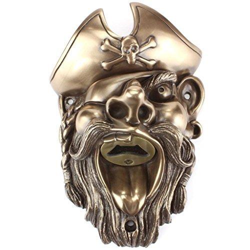 Beer Buddies Flaschenöffner zur Wandbefestigung–Pirat (Bronze) (Piraten-flaschenöffner)