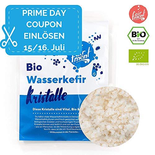 Original Wasserkefir Kristalle Starterkulturen für unendlich viel Wasser-Kefir mit Anleitung und Erfolgsgarantie von Fairment ® ... (1 Liter (30g Kristalle))
