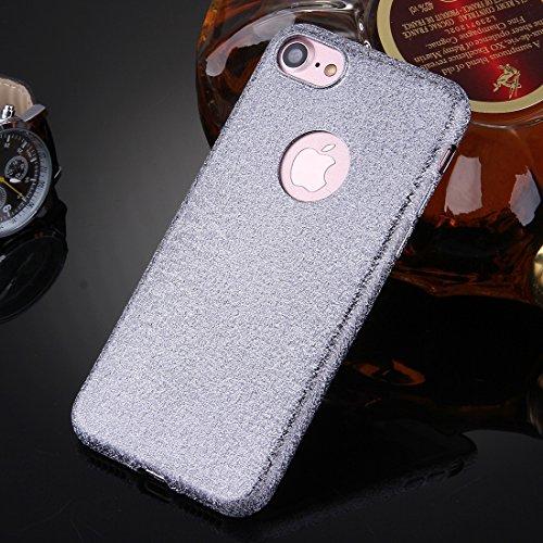 iPhone Case Cover Pour iPhone 7 Glitter Poudre TPU Étui de protection ( Color : Grey ) Grey