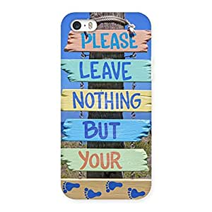 Neo World Leave Footsteps Back Case Cover for iPhone 5 5S