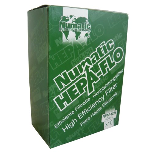 "Numatic NVM-1CH HepaFlo' Disposable Filter Bags Pack - for the ""Henry"" HVR200A, the ""Hetty"" HET200A, the ""James"" JVP180, and the ""Henry Micro"" HVR200M Vacuum Cleaners - (10-Bags Per Pack)"