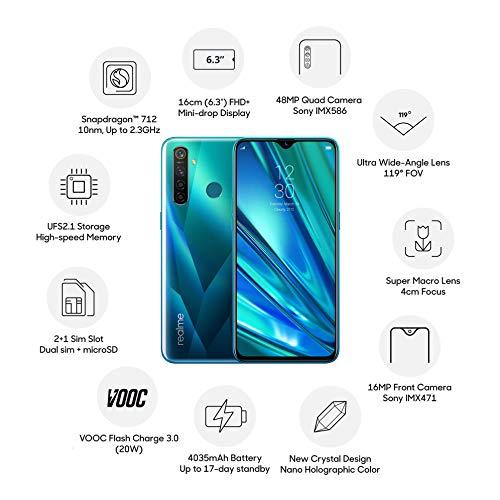 Realme 5 Pro (Crystal Green, 8GB RAM, 128GB Storage)