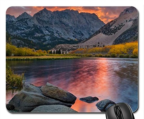 north-lake-in-flames-california-mouse-pad-mousepad-lakes-mouse-pad