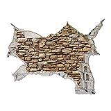 Bilderwelten 3D Wandtattoo - Amerikanische Steinwand - Quer 3:4, Größe: 90cm x 120cm