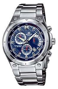 Casio - EF-526D-2AVEF - Montre Edifice - Quartz Analogique - Chronographe Rétrograde - Cadran Bleu - Jour / Date - Etanche 10 ATM - Bracelet Acier