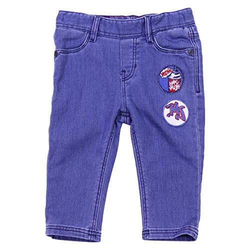 Little Marc Jacobs Baby Boy Pantaloni in Felpa effetto Denim Mod. W04153Z10 9M