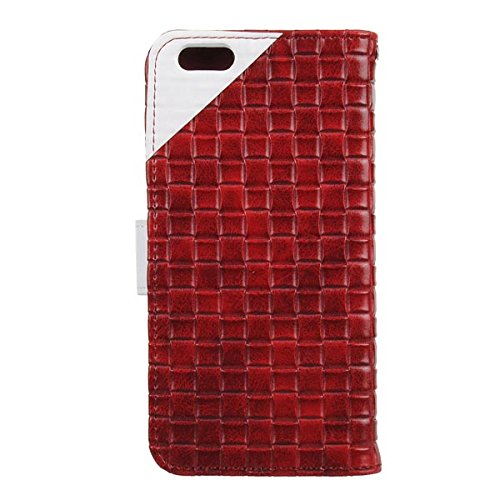 Case Section Couleur Collision 5.5inch en cuir tissŽ pour iPhone 6Plus rouge