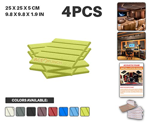 ace-punch-4-pack-yellow-flat-wedge-acoustic-foam-panel-diy-design-studio-soundproofing-wall-tiles-so