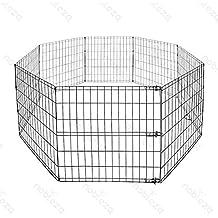 Nobleza - Parque pleglable para perros o cachorros, 8 piezas de valla de 60 cm x 60 cm.