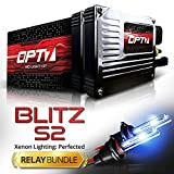 9005 , 6000K Lightning e : OPT7 Blitz HID Kit for High Beams - Relay Bundle - 3.5x Brighter - 4x Longer Life - All Colors and Sizes - 2 Yr Warranty [9005 - 6K Lightning e Xenon Light]