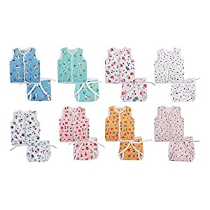 EIO® New Born Baby Gift Pack Jhabla With Diaper (Multicolor) Pack Of 16.