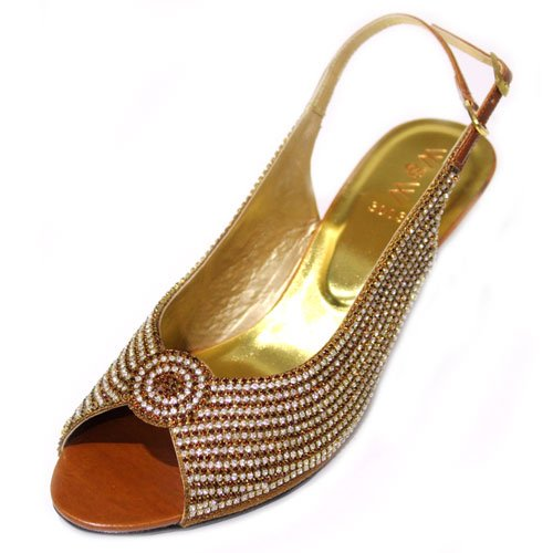 & femme W W pour demoiselle d'honneur avec strass pour Mariage Soirée Mode MI Chaussures Taille (Bordeaux, pêche, Orange, marron clair PITAL Marron - Marron clair
