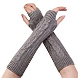 TUDUZ lange fingerlos Handschuhe Damenhandschuhe Winterhandschuhe Fäustlinge Fausthandschuhe