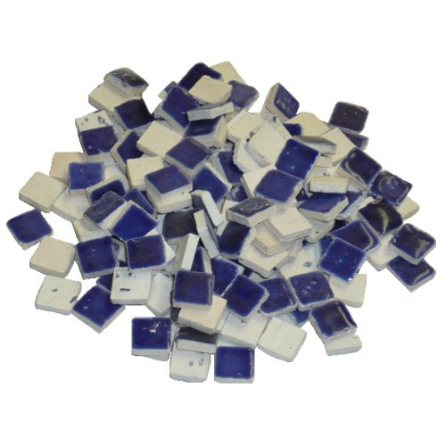 2293028 10 x 10 x 3 mm 70 g 150-tlg. Keramik glasiert Mosaik Fliesen, Royal Blau